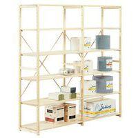 Estantería de madera - Elemento de partida - Anchura 1.000 mm - Altura 2.330 mm