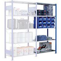 Estantería Easy-Fix - Elemento adicional - Profundidad  500 mm - Color azul