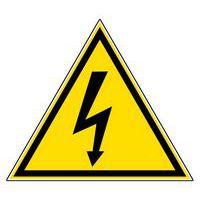 """Señal de peligro - """"Tensión eléctrica"""" - Adhesivo"""