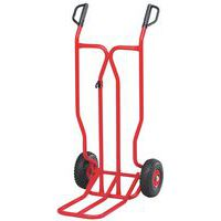 Carretilla de acero - Ruedas neumáticas - Capacidad de carga 350kg