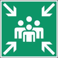 """Señal de evacuación y socorro - """"Punto de reunión"""" - Adhesiva"""