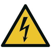 """Señal de advertencia - """"Riesgo eléctrico"""" - Adhesiva"""