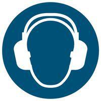 """Señal de obligación - """"Uso obligatorio de protección auditiva"""" - Adhesiva"""