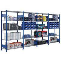 Estantería Easy-Fix de compartimentos grandes - Elemento de partida - Altura 2000 mm - Color azul