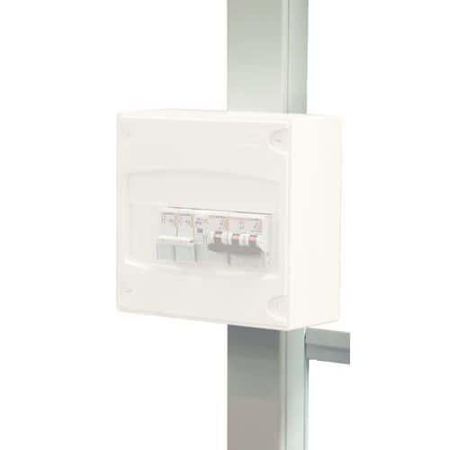Caja de conexiones para 1 o 2 plafones de iluminación para cabinas prefabricadas