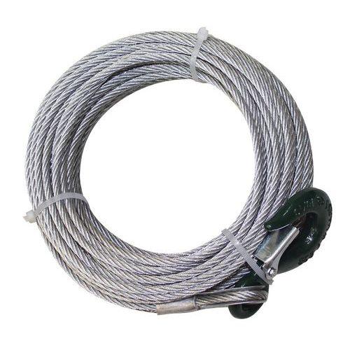 Juego de cables de acero con gancho para cabrestante manual con freno automático