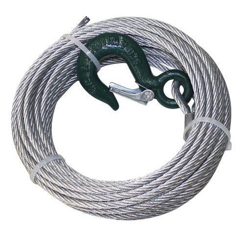 Juego de cable de acero con gancho para cabrestante manual con tornillo sin fin