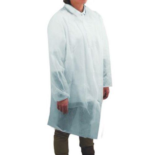 Blusa desechable de polipropileno sin bolsillos