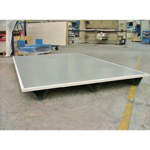 Plataforma paletizable para cabinas de tabique doble en chapa o chapa/melamina