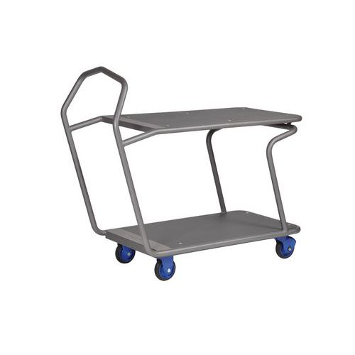 Carro ergonómico con 2 bandejas Edcar - Capacidad: 300 kg