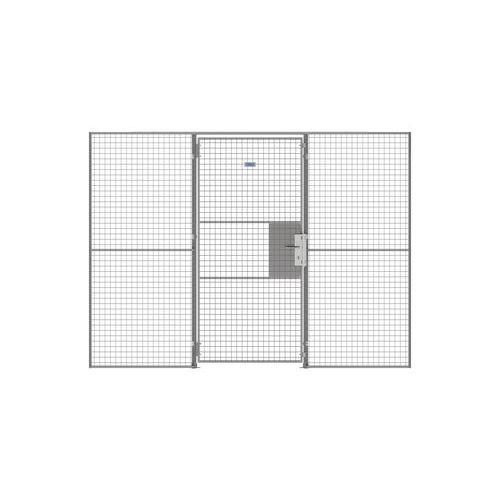 Puerta batiente para cerramiento de rejilla UX 450 - Con cerradura con llave