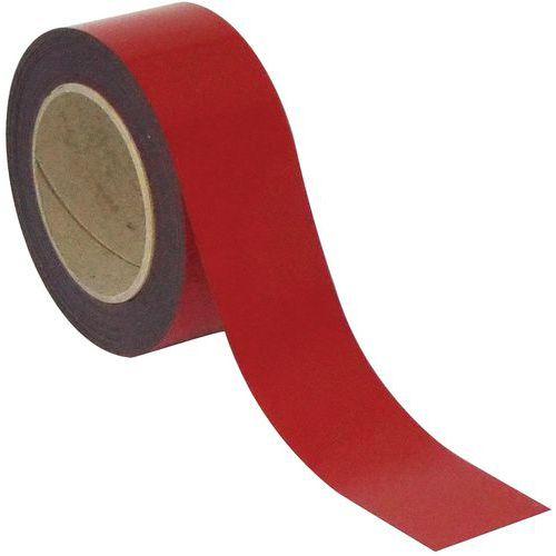 Cinta magnética borrable para marcado 10 m - Roja - Manutan