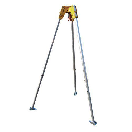 Trípode con polea telescópico de aluminio - Resistencia de 250 a 2000 kg
