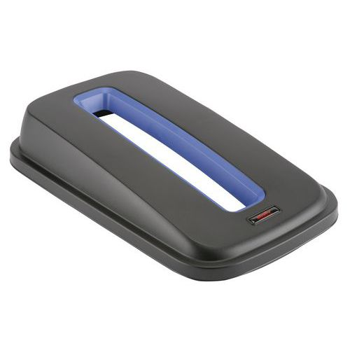 Tapa con abertura para papel azul para papelera GEO