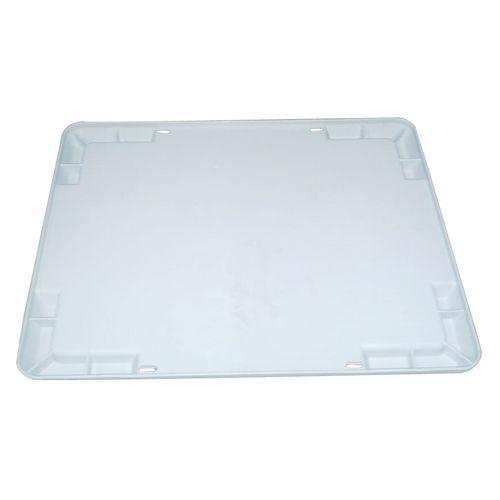 Tapa para cajas apilables y encajables industriales
