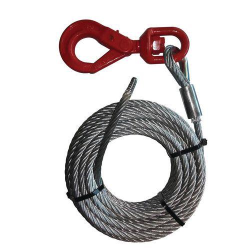 Juego de cables para cabrestante con gancho giratorio