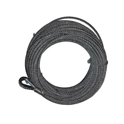 Cables de acero con gaza con guardacabo para cabrestante mural - Capacidad de 40 a 400 kg