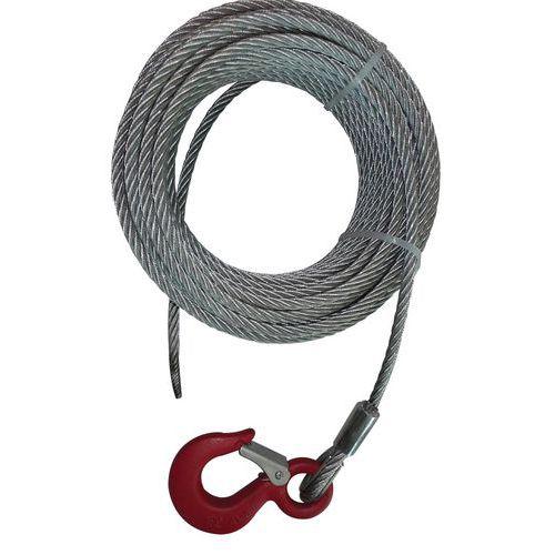 Juego de cable de acero con gancho para cabrestante de arrastre manual