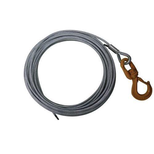 Kit de cable antigiratorio galvanizado con una hebilla y gancho