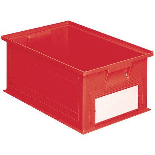 Caja apilable de dimensiones específicas - Rojo