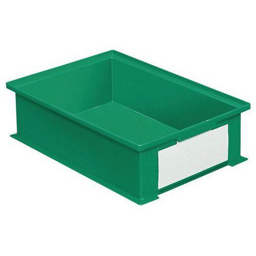 Caja apilable de dimensiones específicas - Verde