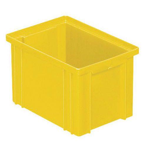 Caja apilable de dimensiones específicas - Amarillo
