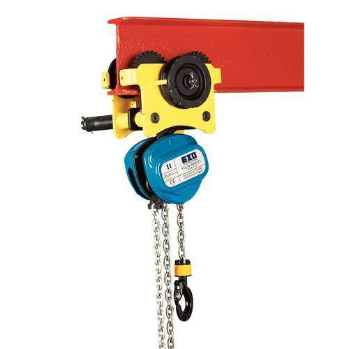 Polipasto móvil mixto con carro con cadena - Cargas de 250 a 5.000 kg