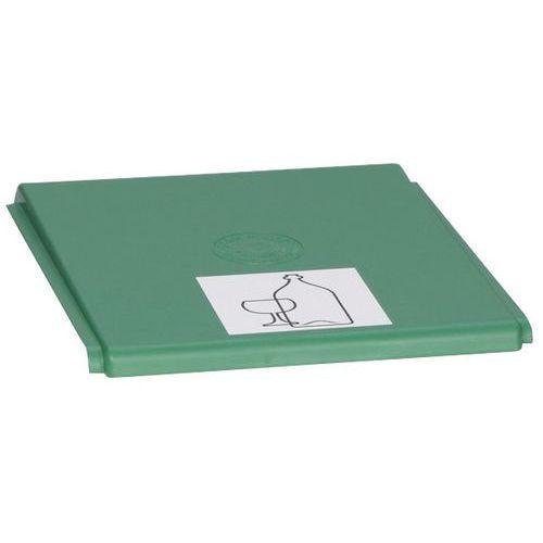 Tapa de plástico para sistema de recogida selectiva - Capacidad 40 L