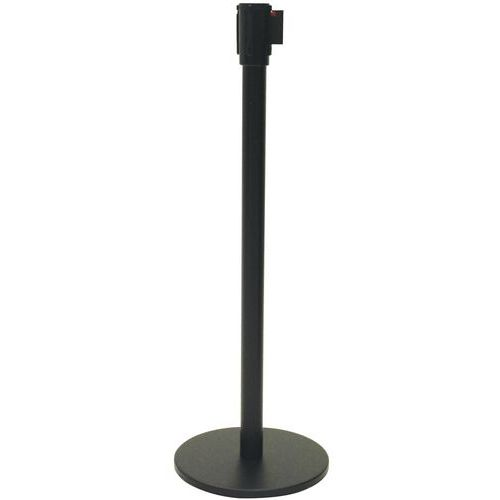 Poste negro con correa - 5m - Manutan
