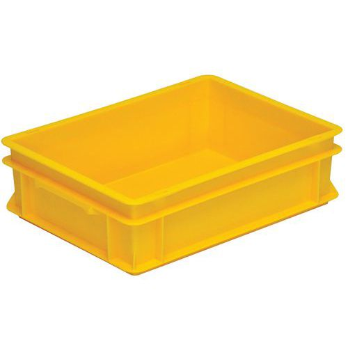 Caja apilable norma Europa color amarillo RAKO - de 10 a 42 L