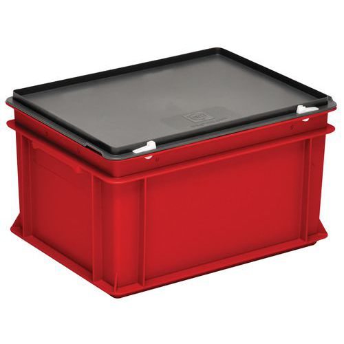 Cajas con tapa RAKO color rojo - 400x300 mm - de 10 a 60 L