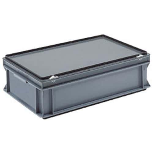 Cajas con tapa RAKO color gris - 600x400 mm - de 30 a 90 L