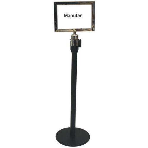 Panel portacarteles para poste - 2 m - Manutan