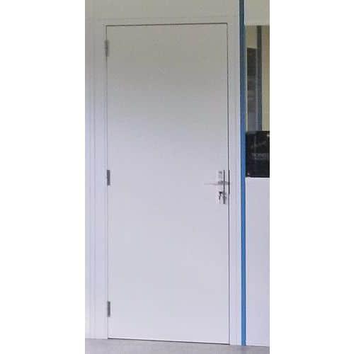 Puerta batiente para cerramiento de taller de melamina - Panel macizo - Altura 3,03 m