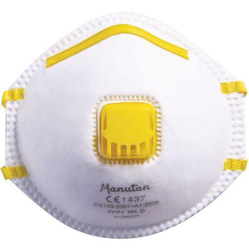 Semimáscara respiratoria con carcasa firme de un uso único FFP1 - Manutan