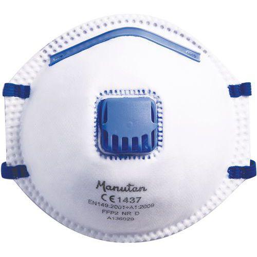 Semimáscara respiratoria con carcasa firme de un uso único FFP2 - Manutan