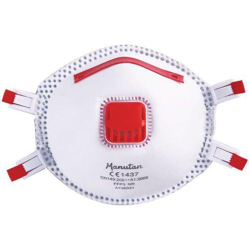 Semimáscara respiratoria con carcasa firme de un uso único FFP3 - Manutan