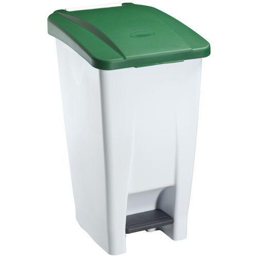 Cubo de basura móvil con pedal 60 L - Manutan