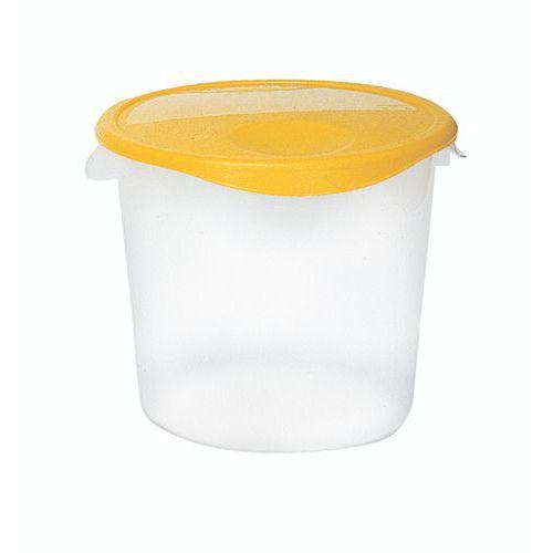 Bote plástico de almacenamiento redondo