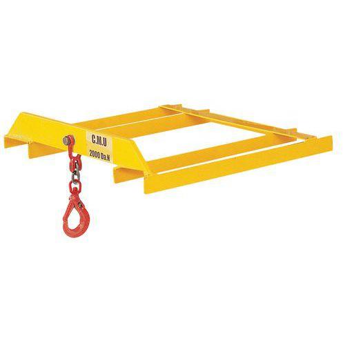 Gancho de elevación para carro elevador con horquilla - Carga 3.000 kg