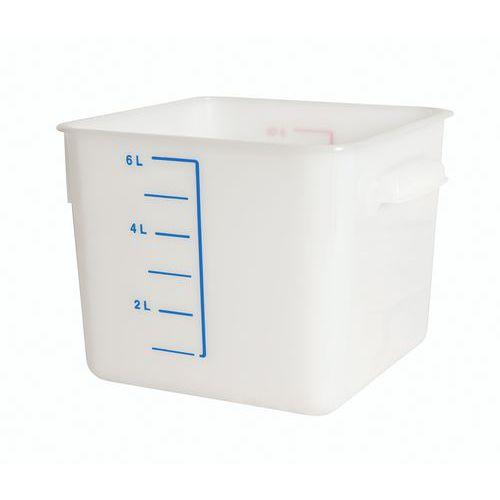 Caja plástica de almacenamiento cuadrado con graduación