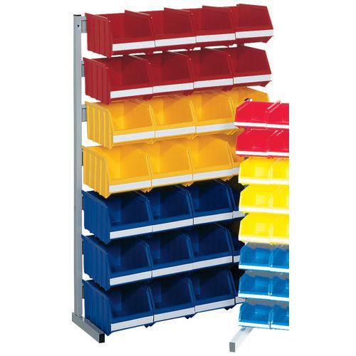Soporte con 28 cajas abertura frontal 4L - Mediano