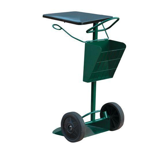 Carros de barrendero portabolsas de basura 150 L