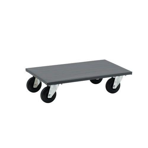 Plataforma rodante de madera - Acabado plástico - Cargas 300 y 500 kg