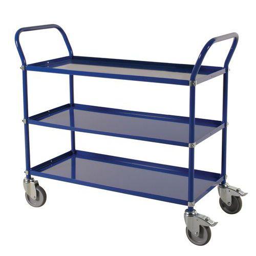 Carro con bandejas de metal - 3 niveles - Carga 400 kg