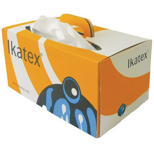 Trapo no tejido Ikatex - Caja dispensadora hoja a hoja  - 200 formatos