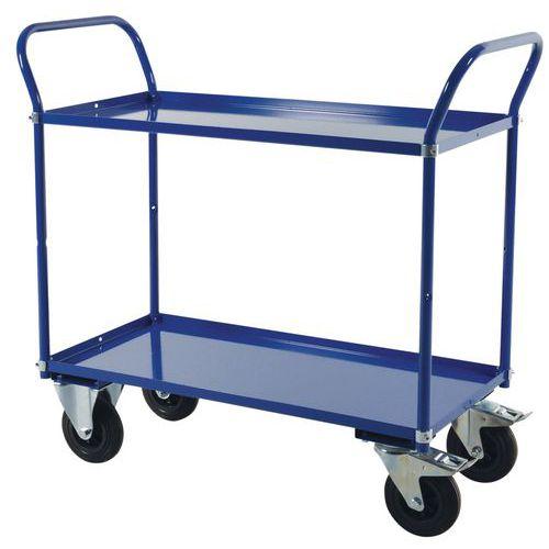 Carro con bandejas de metal - 2 niveles - Carga 400 kg