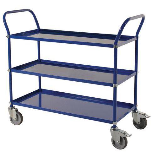 Carro con bandejas de metal - 3 niveles - Carga 250 kg