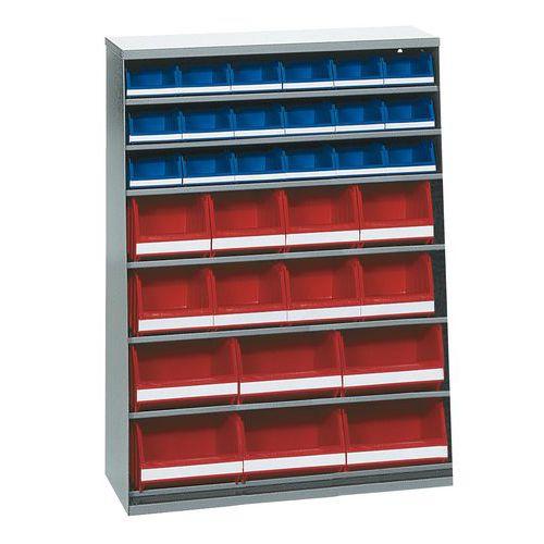 Armario con 40 cajas abertura frontal - Baja - Sin puerta