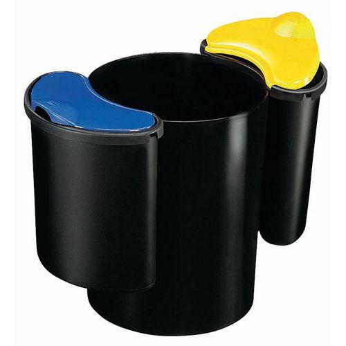 Cubo de reciclaje para oficina - 16L y 2x7L